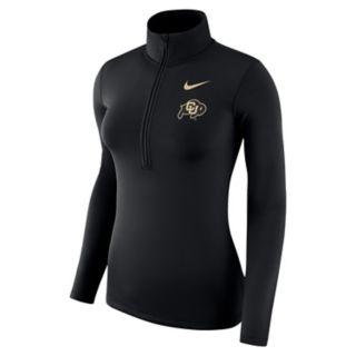 Women's Nike Colorado Buffaloes 1/2-Zip Dri-FIT Pullover Top