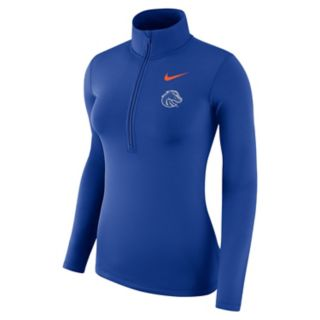 Women's Nike Boise State Broncos 1/2-Zip Dri-FIT Pullover Top
