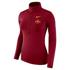 Women's Nike Iowa State Cyclones 1/2-Zip Dri-FIT Pullover Top