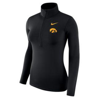 Women's Nike Iowa Hawkeyes 1/2-Zip Dri-FIT Pullover Top