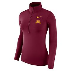 Women's Nike Minnesota Golden Gophers 1/2-Zip Dri-FIT Pullover Top