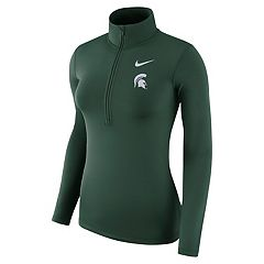 Women's Nike Michigan State Spartans 1/2-Zip Dri-FIT Pullover Top