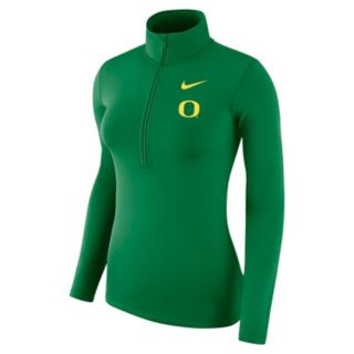 Women's Nike Oregon Ducks 1/2-Zip Dri-FIT Pullover Top