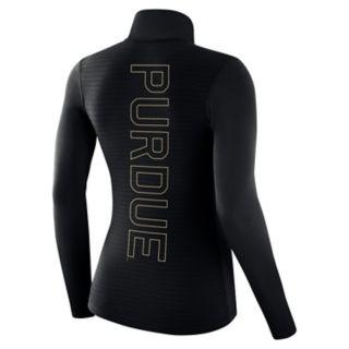 Women's Nike Purdue Boilermakers 1/2-Zip Dri-FIT Pullover Top