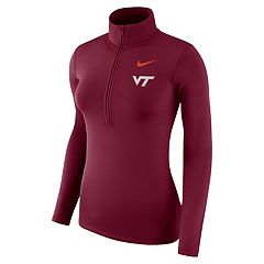 Women's Nike Virginia Tech Hokies Dri-FIT Half-Zip Top