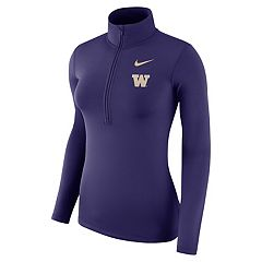 Women's Nike Washington Huskies 1/2-Zip Dri-FIT Pullover Top