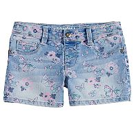 Girls 4-12 SONOMA Goods for Life® Floral Denim Shortie Shorts