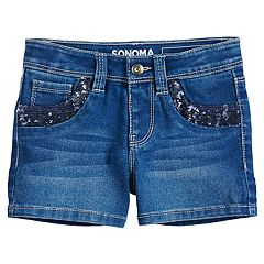 Girls 4-12 SONOMA Goods for Life™ Sequin Pockets Shortie Denim Shorts