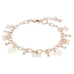 LC Lauren Conrad Butterfly Charm Bracelet