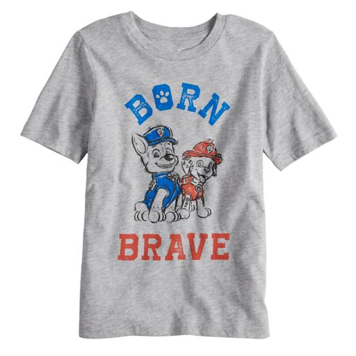 """Boys 4-10 Jumping Beans® Paw Patrol """"Born Brave"""" Chase & Marshall Americana Graphic Tee"""