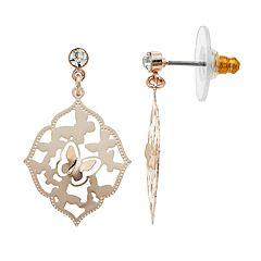 LC Lauren Conrad Butterfly Cutout Nickel Free Drop Earrings