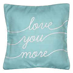Spencer Home Decor 'Love You More' Embroidered Throw Pillow Cover