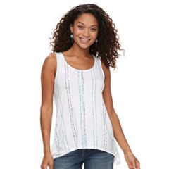 Petite Apt. 9® Strappy Back Sharkbite Tank