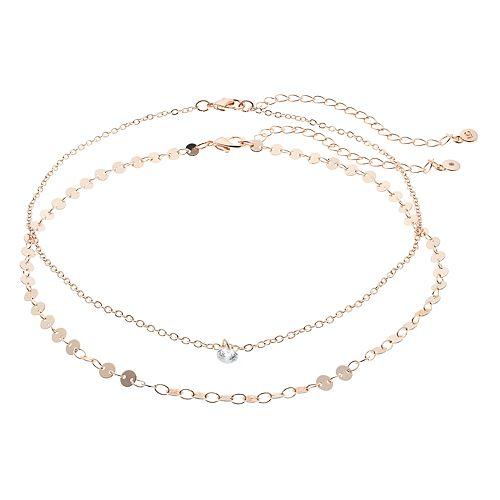 LC Lauren Conrad Cubic Zirconia Choker Necklace Set