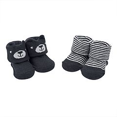 Baby Boy Carter's 2-pack Bear & Striped Keepsake Booties