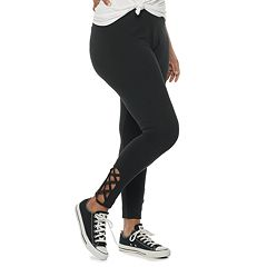 Juniors' Plus Size SO® Lace-Up Leggings