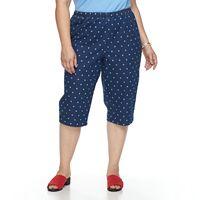 Plus Size Croft & Barrow® Vented Pull-On Capris