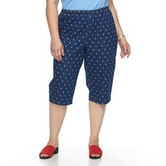 Plus Size Croft & Barrow® Vented Pull-On Capris