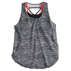 Girls 7-16 SO® Strappy Tank Top with Built-In Bra