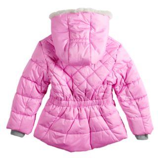 Girls 4-16 ZeroXposur Lexy Faux-Fur Trim Heavyweight Puffer Jacket