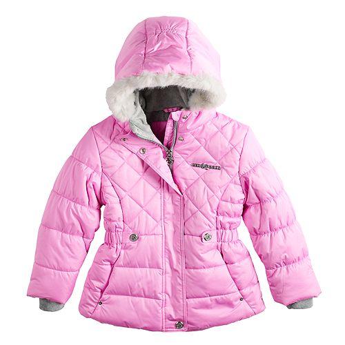 6db243b76504 Girls 4-16 ZeroXposur Lexy Faux-Fur Trim Heavyweight Puffer Jacket