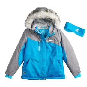 Girls 7-16 ZeroXposur Karen Snowboard Heavyweight Jacket with Headband