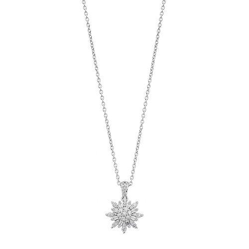 Simply Vera Vera Wang Sterling Silver 1/3 Carat T.W. Diamond Snowflake Pendant