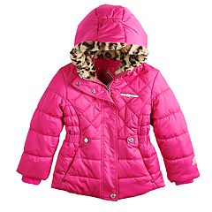 Girls 4-6X Zero Xposure Miranda Faux-Fur Trim Heavyweight Puffer Jacket