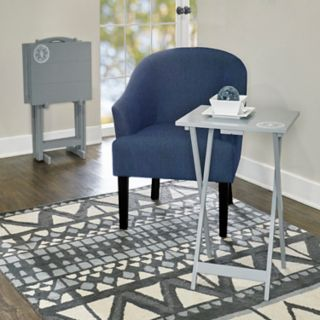 Linon Gray TV Tray Table 5-piece Set