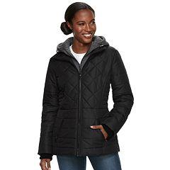Women's d.e.t.a.i.l.s Hooded Bib Inset Puffer Jacket