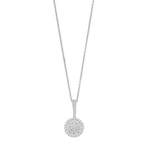 Simply Vera Vera Wang Sterling Silver 1/2 Carat T.W. Diamond Circle Pendant Necklace