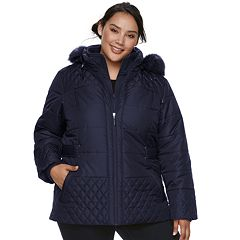 Plus Size d.e.t.a.i.l.s Hooded Quilted Puffer Jacket