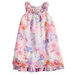 Girls 4-6x Blueberi Boulevard Ruffled Chiffon Dress