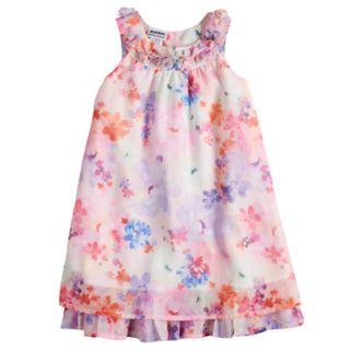 Girls 4-6x Blueberi Boulevard Ruffled Chiffon Dress