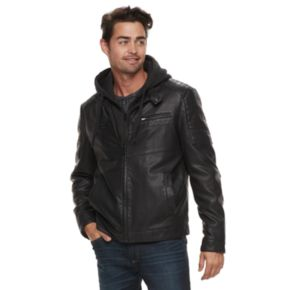 Men's Apt. 9® Midweight Hooded Moto Jacket