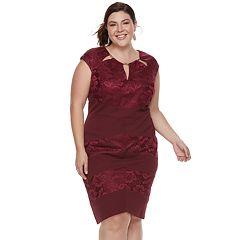 Plus Size Chaya Floral Cutout Dress