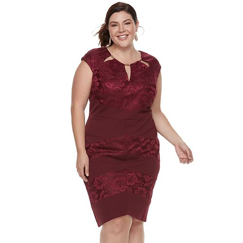 Plus Size Chaya Floral Cutout Dress