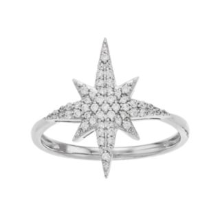 Simply Vera Vera Wang Sterling Silver 1/4 Carat T.W. Diamond Starburst Ring