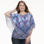 Plus Size World Unity Printed Popover Top