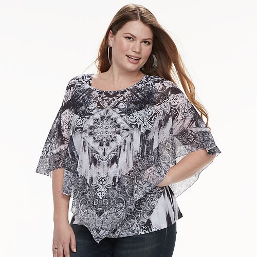 136c010d2fd Plus Size World Unity Printed Popover Top