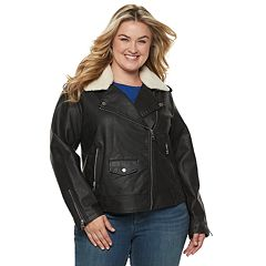 Plus Size Levi's® Faux-Leather Moto Jacket
