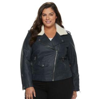 Plus Size Levi's® Faux-Leather Moto Jacket