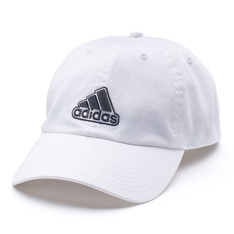 Men's Adidas Ultimate Cap, White Complete your look with this men's Adidas cap. ClimaLite moisture-wicking technology keeps you cool and dry Precurved bill Adjustable back FIT & Sizing One size fits most Fabric & Care Cotton Hand wash Imported Size: Onesize. Color: White. Gender: Male. Age Group: Adult. Material: Acrylic.