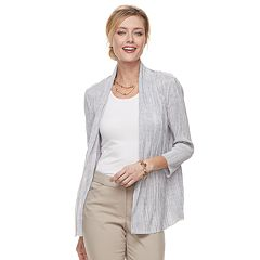 Women's Dana Buchman Pleated Open-Front Cardigan