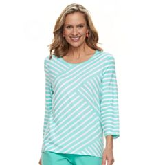 Women's Cathy Daniels Diagonal Stripe Top