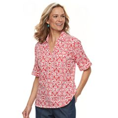 Women's Cathy Daniels Scroll Henley Top