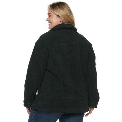 Plus Size Levi's® Long Sherpa Trucker Jacket
