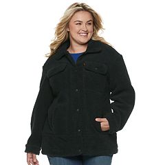 Plus Size Levi's® Long Sherpa Trucker Jacket