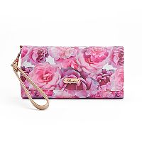 Buxton Brilliant Floral Night Out RFID-Blocking Wristlet