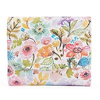 Buxton Petite Garden Pik-Me-Up Mini Trifold RFID-Blocking Wallet